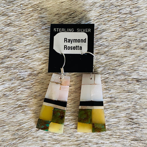Raymond Rosetta Square Earrings