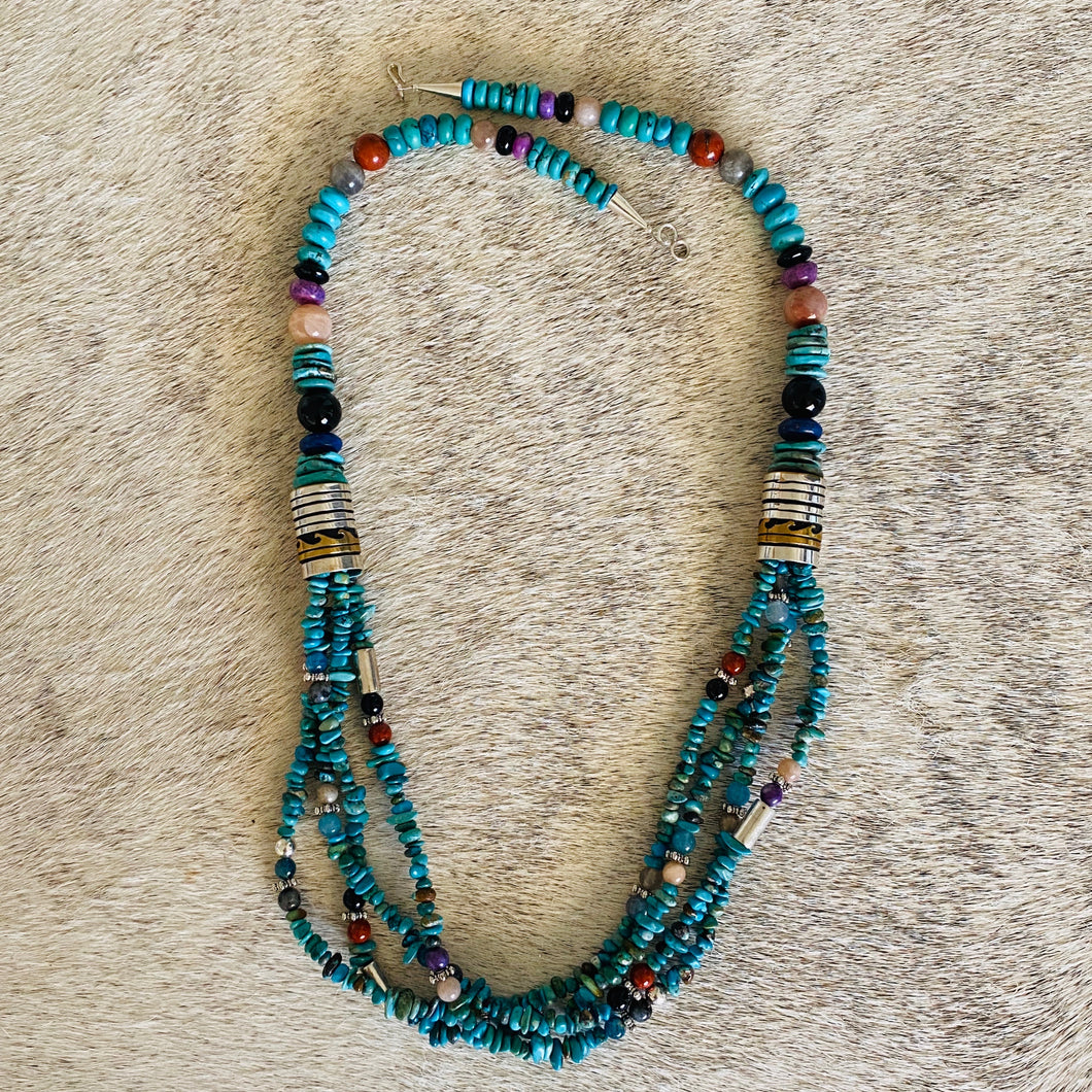 Speckled Necklace by Navajo artist- Tommy Singer