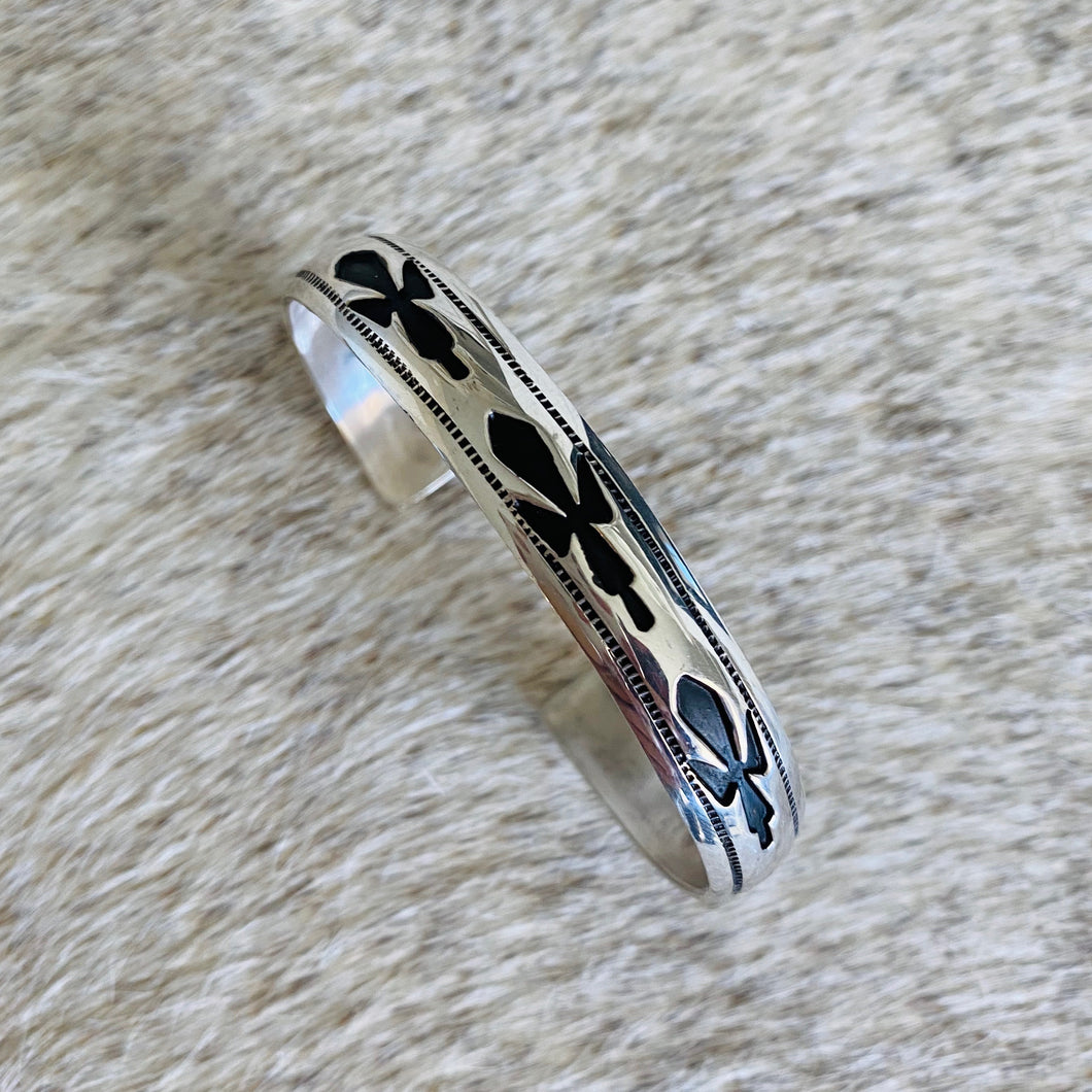 Floral Sterling Cuff