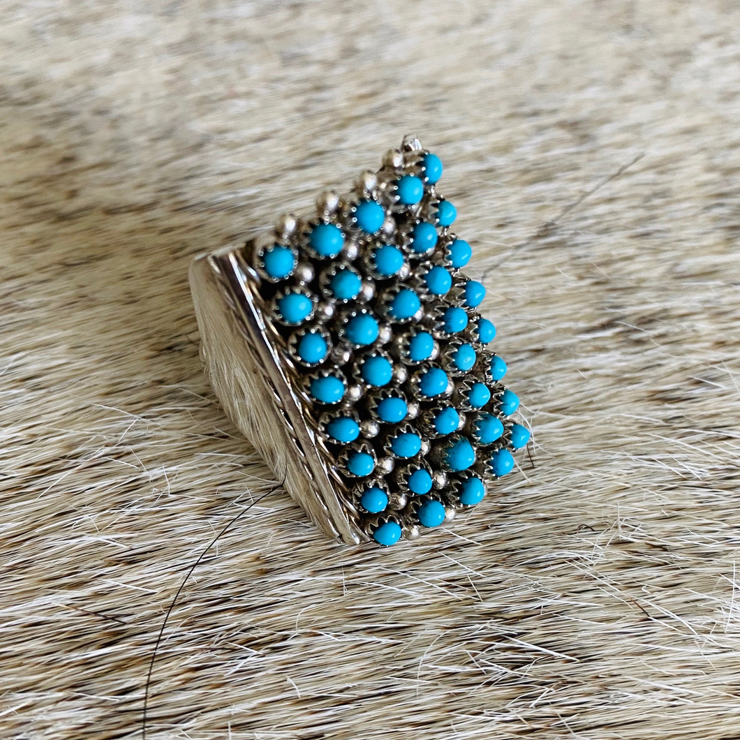 Short Dotted Turquoise Ring