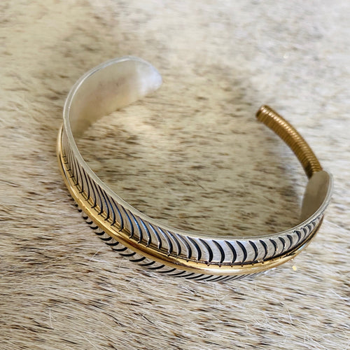 Feather Sterling Bracelet