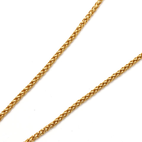 Chanel CHANEL Clover Coco Mark Long Necklace 95A Gold P1347
