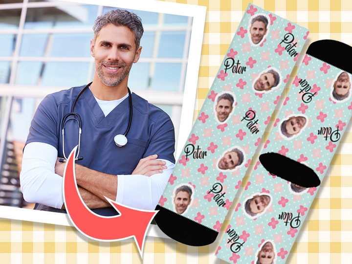 Your face on your sock - Nurse Theme