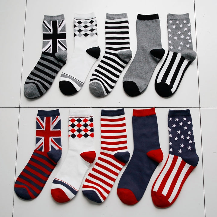 Man Flag Strips Socks