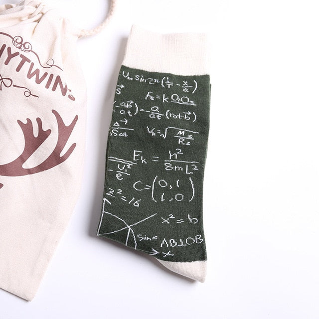 Math Theme Socks