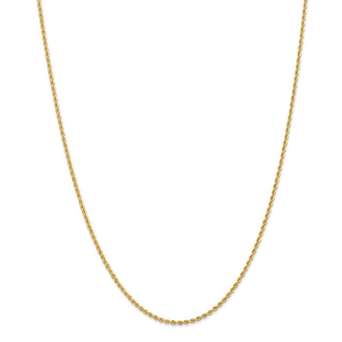Million Charms 14k Yellow Gold, Necklace Chain, 2mm Regular Rope Chain, Chain Length: 26 inches