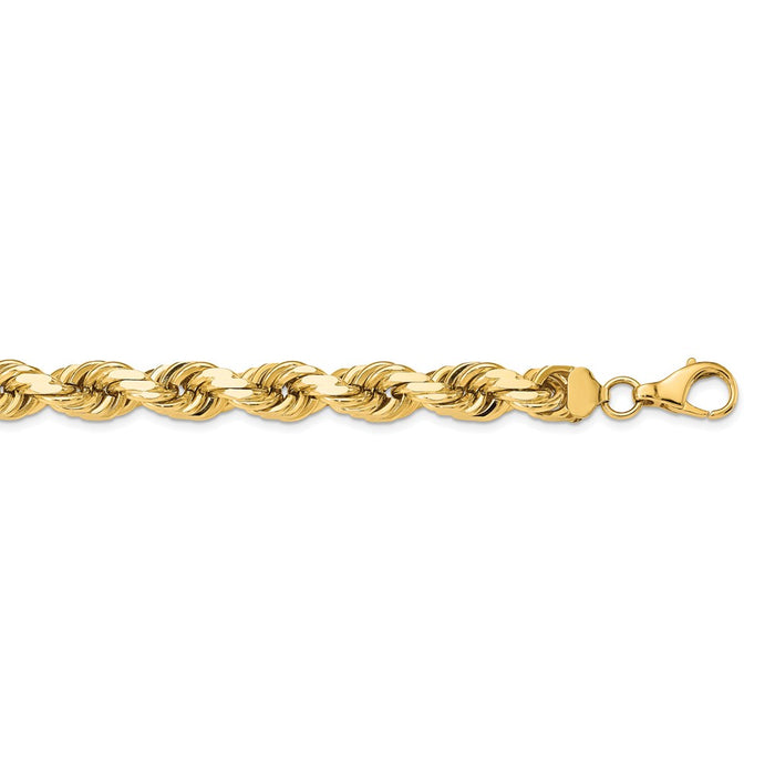 Million Charms 14k Yellow Gold, Necklace Chain, 12mm Diamond-Cut Rope, Chain Length: 24 inches