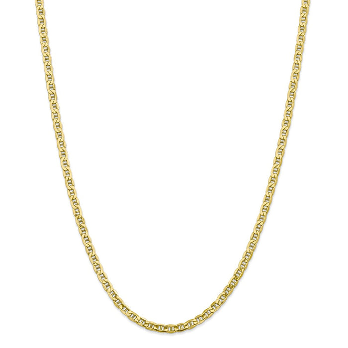 Million Charms 10k Yellow Gold, Necklace Chain, 4.1mm Semi-Solid Anchor Chain, Chain Length: 16 inches