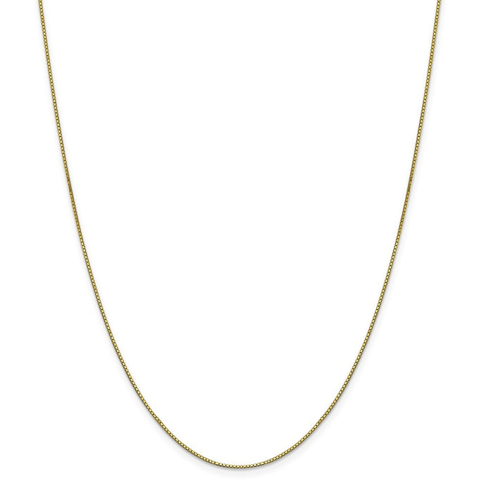Million Charms 10k Yellow Gold, Necklace Chain, .90mm Box Chain, Chain Length: 18 inches