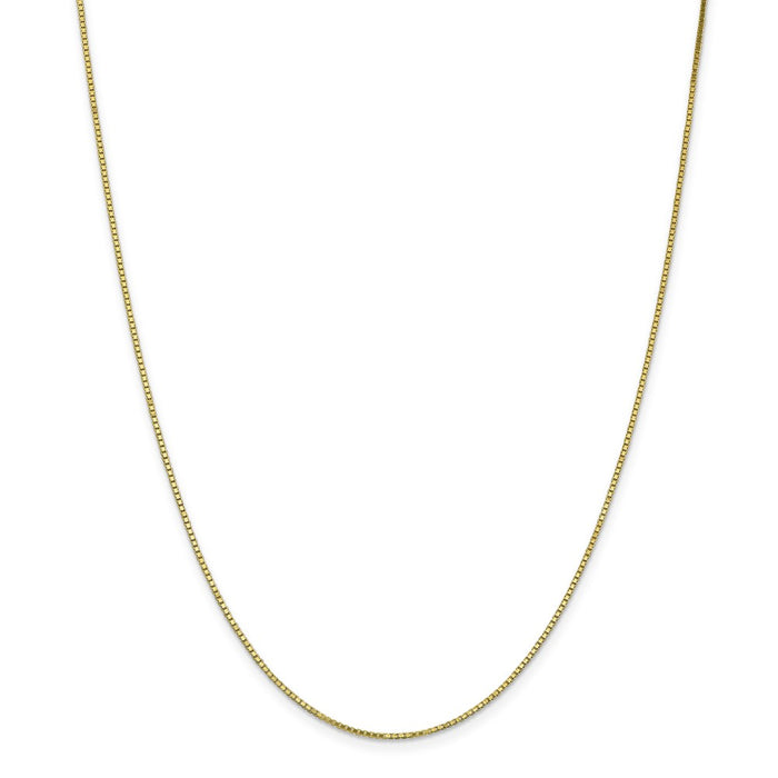 Million Charms 10k Yellow Gold, Necklace Chain, 1.10mm Box Chain, Chain Length: 16 inches