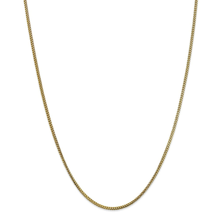 Million Charms 10k Yellow Gold, Necklace Chain, 1.5mm Franco Chain, Chain Length: 24 inches