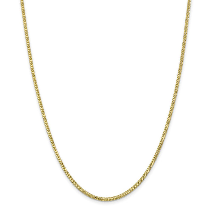 Million Charms 10k Yellow Gold, Necklace Chain, 2.0mm Franco Chain, Chain Length: 20 inches