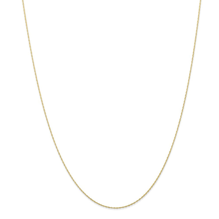 Million Charms 10K Rose Gold, Necklace Chain, .5 mm Carded Cable Rope Chain, Chain Length: 18 inches