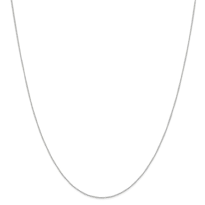 Million Charms 10k White Gold, Necklace Chain, .42 mm Carded Curb Chain, Chain Length: 18 inches