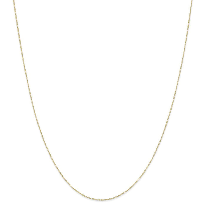 Million Charms 10k Yellow Gold, Necklace Chain, .42 mm Carded Curb Chain, Chain Length: 18 inches