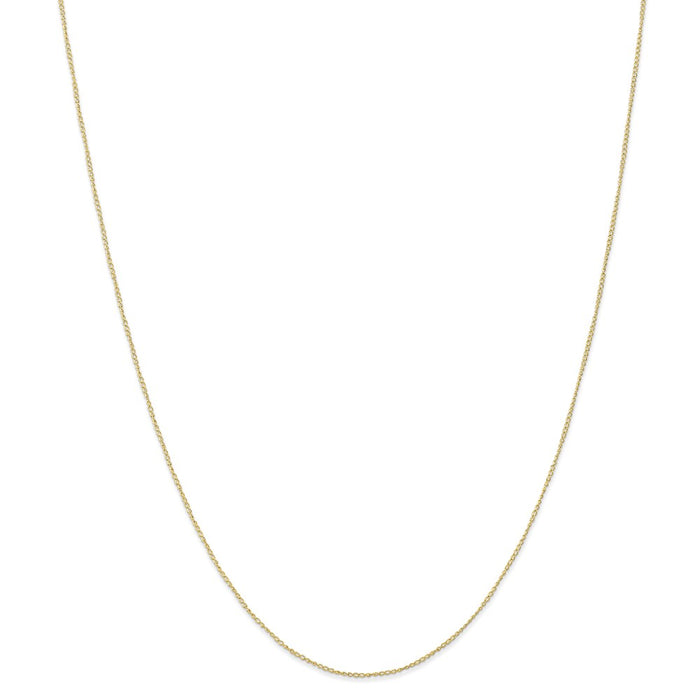 Million Charms 10k Yellow Gold, Necklace Chain, .5 mm Carded Curb Chain, Chain Length: 18 inches