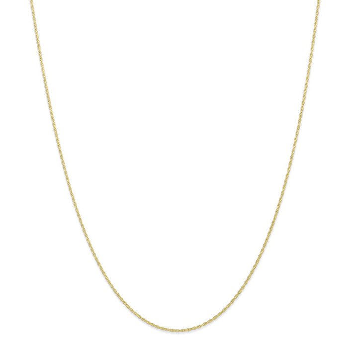 Million Charms 10k Yellow Gold, Necklace Chain, .95 mm Carded Cable Rope Chain, Chain Length: 16 inches