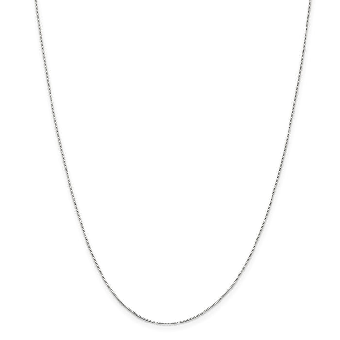 Million Charms 10k White Gold, Necklace Chain, .5mm Box Chain, Chain Length: 16 inches
