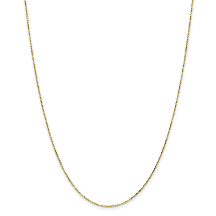 Million Charms 10k Yellow Gold, Necklace Chain, .95mm Diamond-Cut Cable Chain, Chain Length: 24 inches