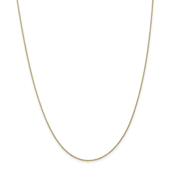 Million Charms 10k Yellow Gold, Necklace Chain, .9mm Cable Chain, Chain Length: 18 inches
