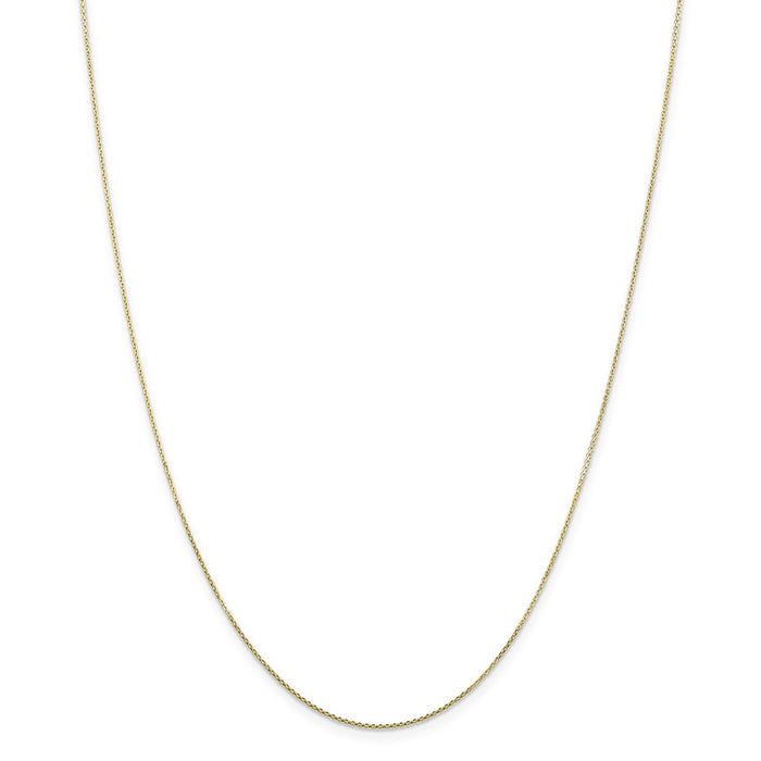 Million Charms 10k Yellow Gold, Necklace Chain, .80mm Diamond-Cut Cable Chain, Chain Length: 16 inches