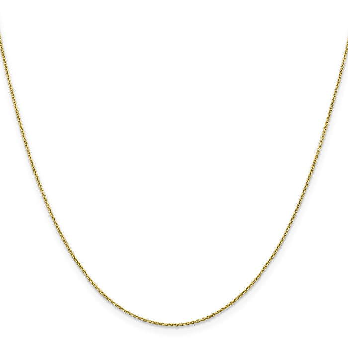 Million Charms 10k Yellow Gold, Necklace Chain, 0.90mm Diamond-Cut Cable Chain, Chain Length: 20 inches