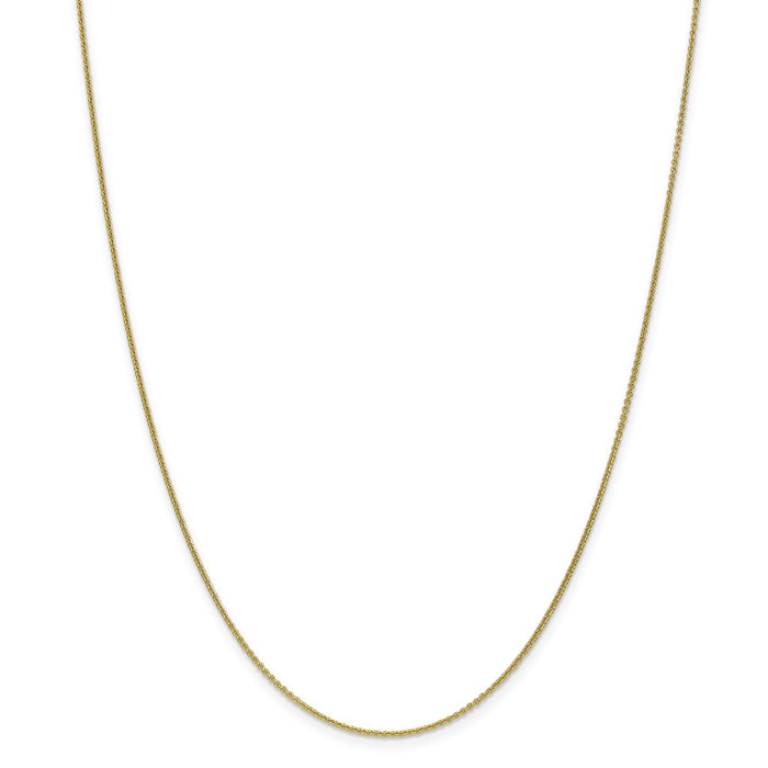 Million Charms 10k Yellow Gold, Necklace Chain, 1mm Cable Chain, Chain Length: 18 inches