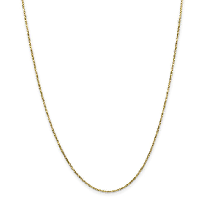 Million Charms 10k Yellow Gold 1.5mm Cable Chain Anklet, Chain Length: 10 inches
