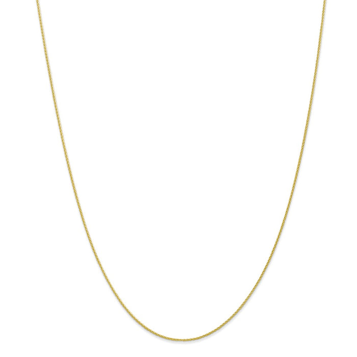Million Charms 10k Yellow Gold, Necklace Chain, .95mm Parisian Wheat Chain, Chain Length: 24 inches
