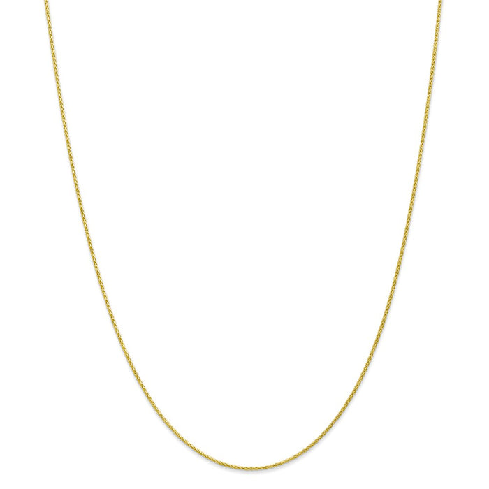 Million Charms 10k Yellow Gold, Necklace Chain, 1.2mm Parisian Wheat Chain, Chain Length: 20 inches