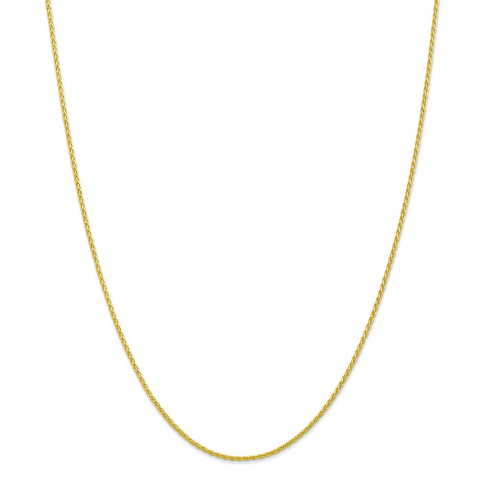 Million Charms 10k Yellow Gold, Necklace Chain, 1.5mm Parisian Wheat Chain, Chain Length: 18 inches