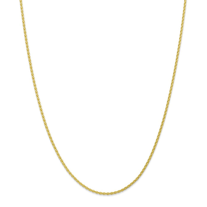 Million Charms 10k Yellow Gold, Necklace Chain, 1.75mm Parisian Wheat Chain, Chain Length: 30 inches