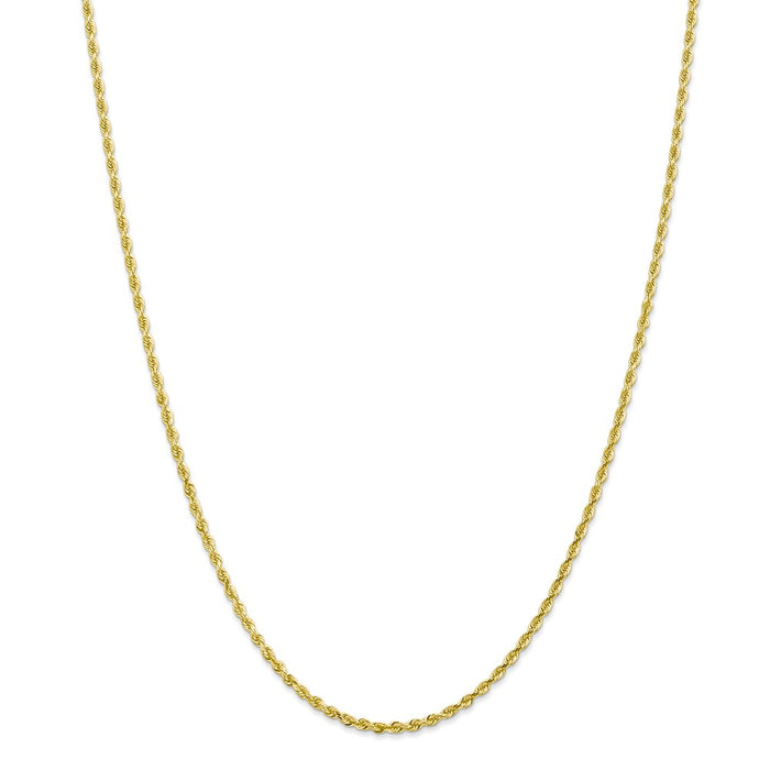 Million Charms 10k Yellow Gold, Necklace Chain, 2.25mm Diamond-Cut Quadruple Rope Chain, Chain Length: 16 inches