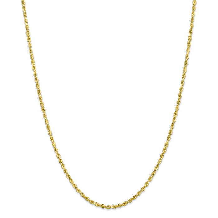 Million Charms 10k Yellow Gold, Necklace Chain, 2.75mm Diamond-Cut Quadruple Rope Chain, Chain Length: 20 inches