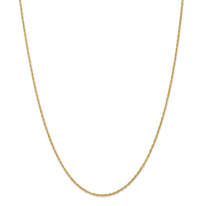 Million Charms 18K Leslie's 1.3mm Heavy-Baby Rope Chain, Chain Length: 24 inches