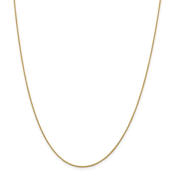 Million Charms 18K Leslie's 1.00mm Diamond-Cut Spiga Chain, Chain Length: 24 inches
