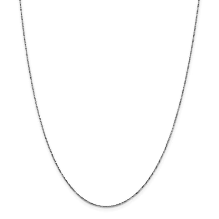 Million Charms 18K Leslie's WG 1.00mm Diamond-Cut Spiga Chain, Chain Length: 16 inches