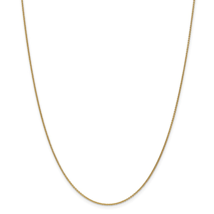 Million Charms 18K Leslie's 1.15mm Diamond-Cut Cable Chain, Chain Length: 18 inches