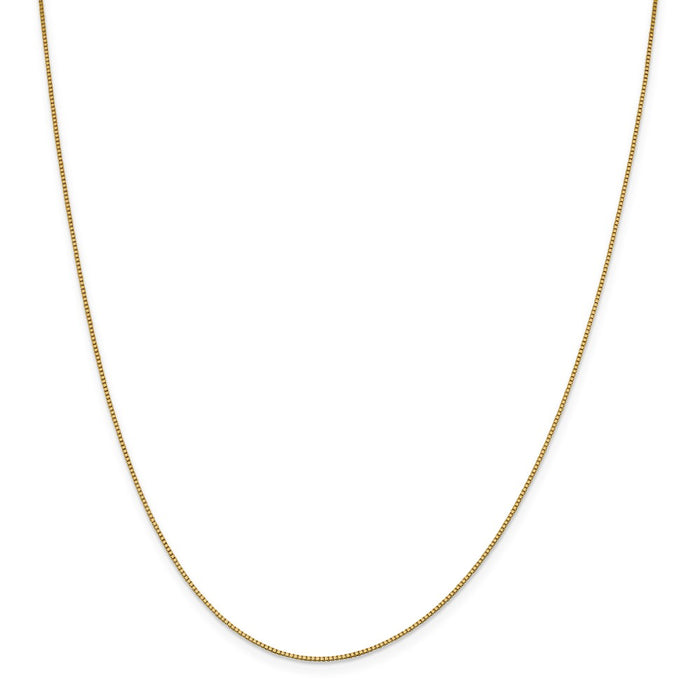 Million Charms 18K Leslie's .90mm Box Chain, Chain Length: 24 inches