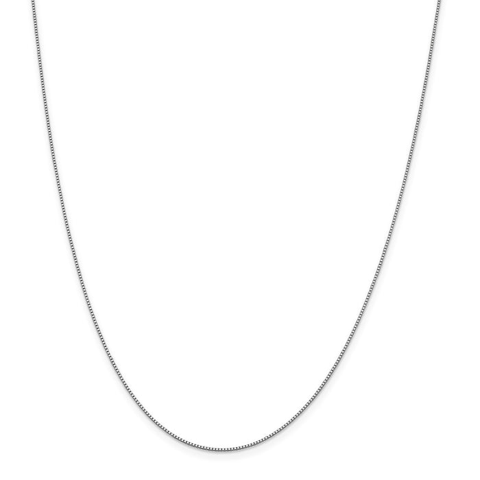 Million Charms 18K Leslie's WG 0.70mm Box Chain, Chain Length: 24 inches