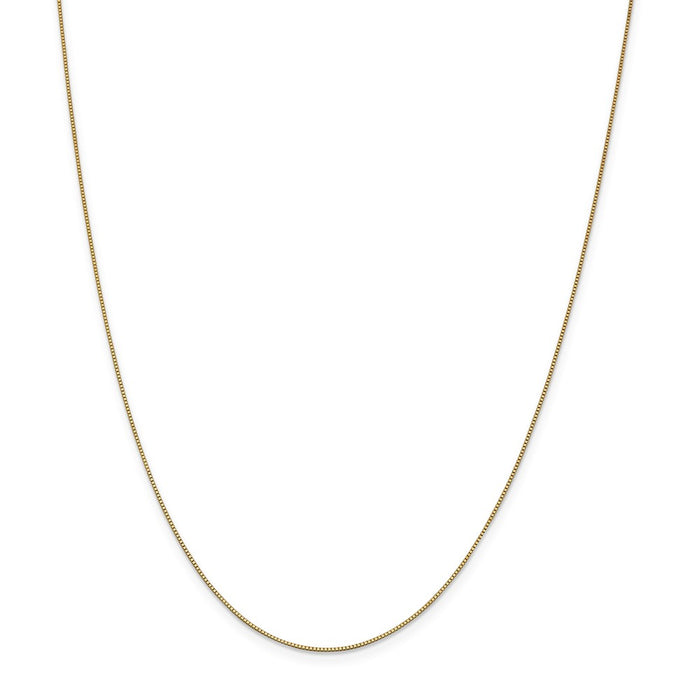 Million Charms 14k Yellow Gold, Necklace Chain, .7mm Box Chain, Chain Length: 26 inches