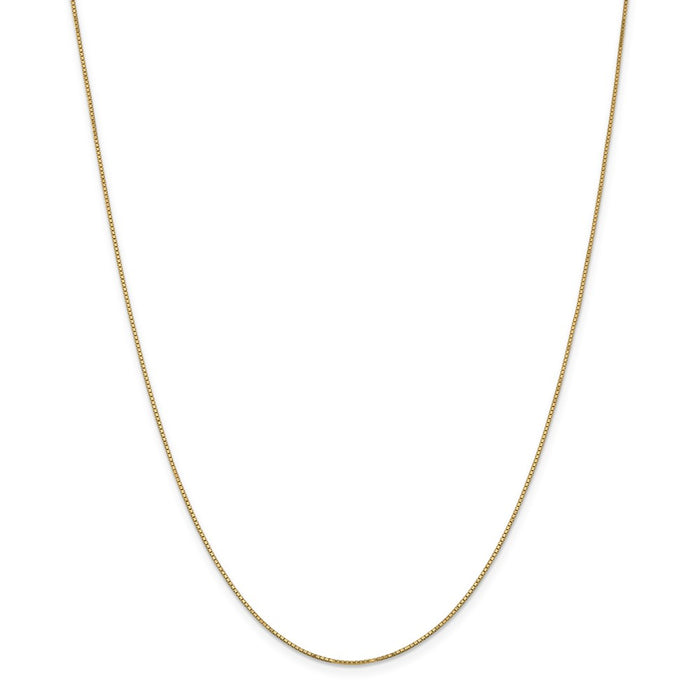 Million Charms 14k Yellow Gold, Necklace Chain, .9mm Box Chain w/Spring Ring, Chain Length: 28 inches