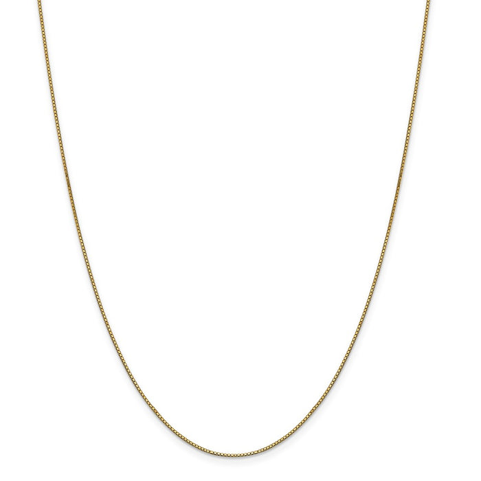 Million Charms 14k Yellow Gold, Necklace Chain, .90mm Box Chain, Chain Length: 28 inches