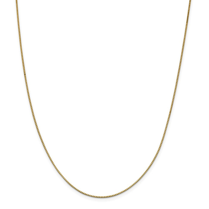 Million Charms 14k Yellow Gold, Necklace Chain, .95mm Box Chain, Chain Length: 28 inches