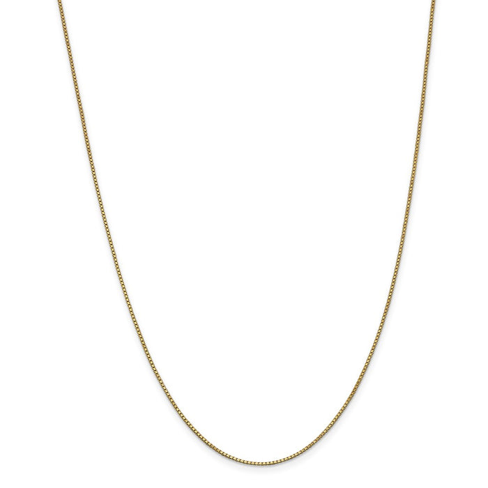 Million Charms 14k Yellow Gold, Necklace Chain, 1.0mm Box Chain, Chain Length: 26 inches