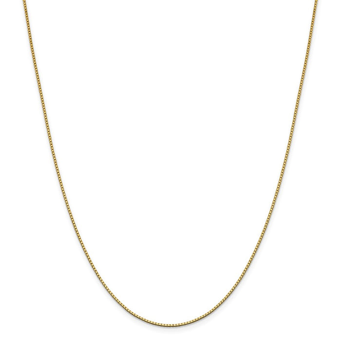 Million Charms 14k Yellow Gold, Necklace Chain, 1.05mm Box Chain, Chain Length: 22 inches