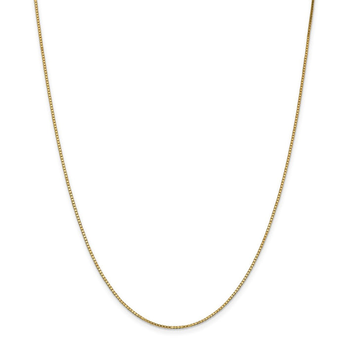 Million Charms 14k Yellow Gold, Necklace Chain, 1.1mm Box Chain, Chain Length: 22 inches