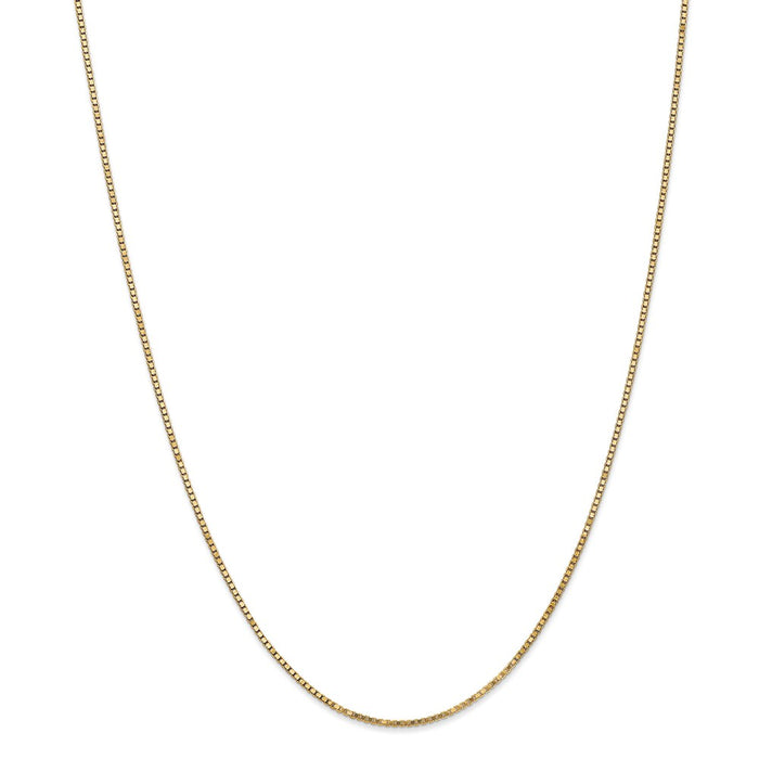 Million Charms 14k Yellow Gold, Necklace Chain, 1.3mm Box Chain, Chain Length: 22 inches