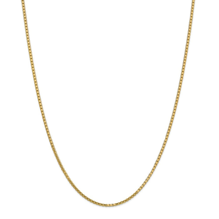 Million Charms 14k Yellow Gold, Necklace Chain, 1.9mm Box Chain, Chain Length: 28 inches