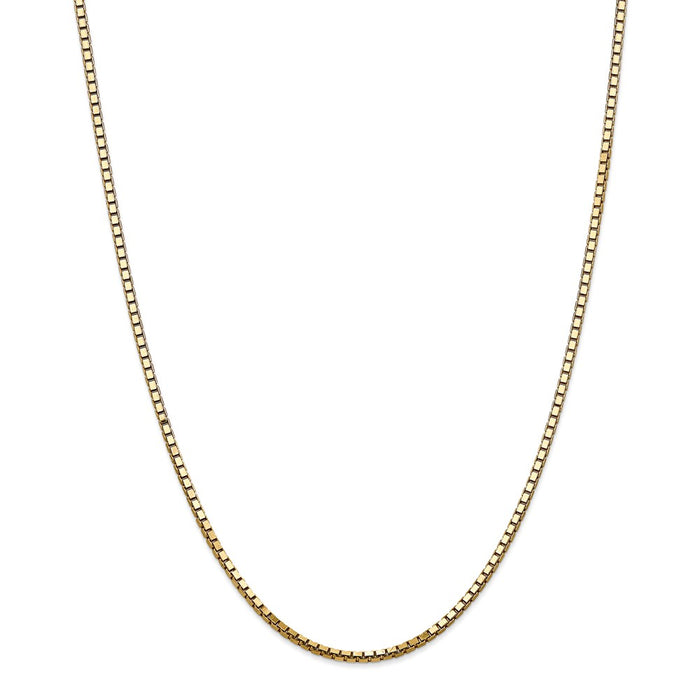 Million Charms 14k Yellow Gold, Necklace Chain, 2.5mm Box Chain, Chain Length: 28 inches